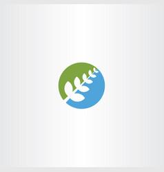 bio plant green blue icon herb natural health vector image vector image
