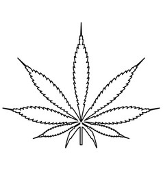 cannabis marijuana leaf black color path icon vector image