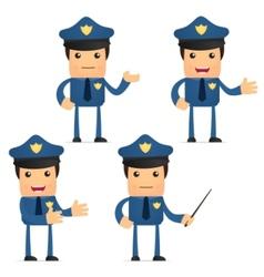 cartoon policeman vector image vector image