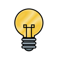 Drawing bulb creative idea innovation icon vector