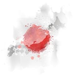 map Japan Watercolor paint vector image vector image