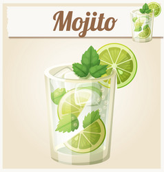 mojito cartoon icon vector image
