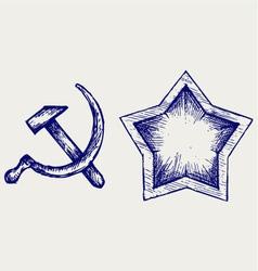 Soviet star icon vector image vector image