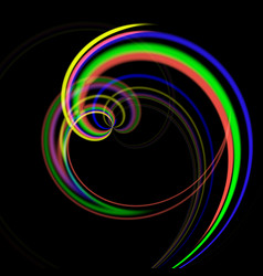abstract background- colored twisted round shape vector image