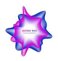 abstract color sound wave digital music vector image