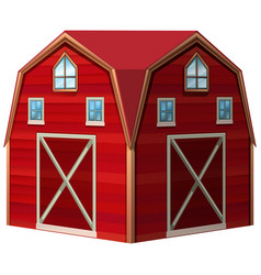 Architecture design for red barn vector