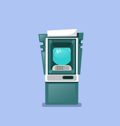 atm machine icon isolated terminal for cash vector image