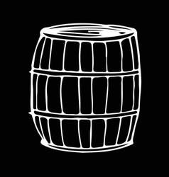 barrel hand draw doodle design vector image