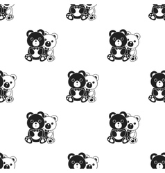 Bears icon in black style isolated on white vector