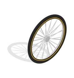 Bicycle whee icon isometric 3d style vector image