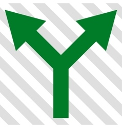 Bifurcation Arrow Up Icon vector