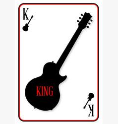 Black solid guitar king vector