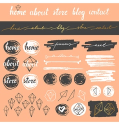 Blog elements set vector image