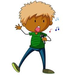 Boy singing vector