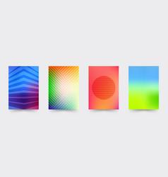 brochure gradient cover template set vector image vector image