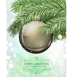 Brown Christmas ball vector image