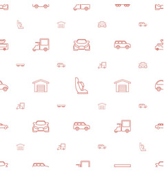 Car icons pattern seamless white background vector