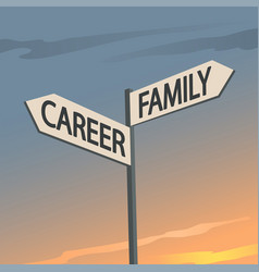 career or family indication sign vector image
