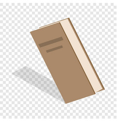 closed book isometric icon vector image