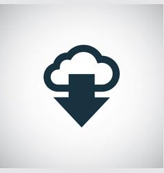 cloud arrow icon simple flat element design vector image