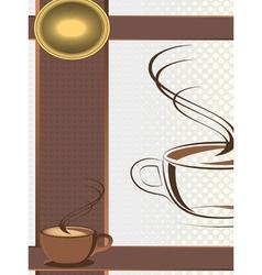 coffee shop menu vector image