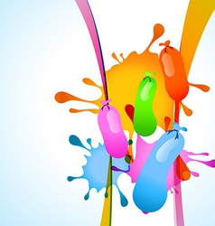 colorful balloon vector image