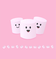 Cute abstract simple characters group of vector