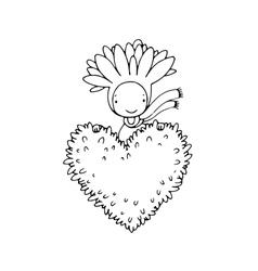 Cute cartoon succulent vector