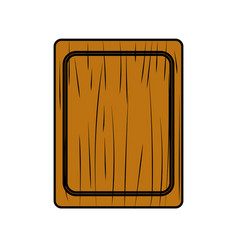 Cutting board practical to prepare fresh vegetable vector