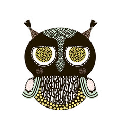 decorative owl bird isolated on white it can be vector image