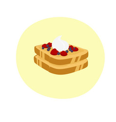 Delicious french toast vector