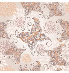 drawn butterfly pattern vector image
