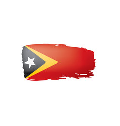East timor flag on a white vector