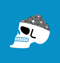 etherium is treasure skull and cryptocurrency vector image