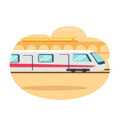 Express-train riding fast vector