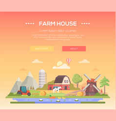 Farm house - modern flat design style vector