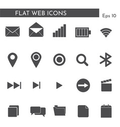 flat web icons 124424411 vector image