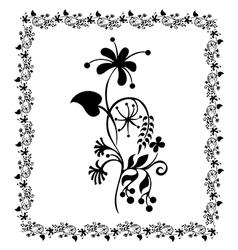 flower pattern frame floral vector image
