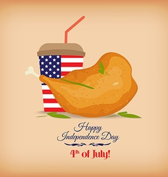 Fried chicken legs for a July 4th picnic vector