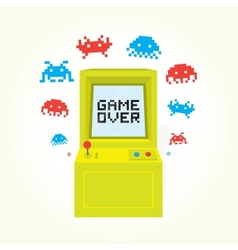 Game over arcade machine vector
