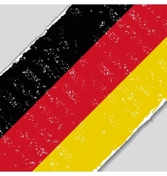 German grunge flag vector