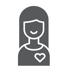 girlfriend glyph icon female and love girl sign vector image