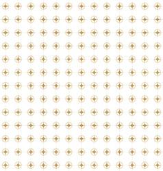 golden retro pattern vector image