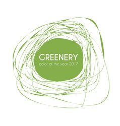 Greenery - color of the year 2017 trendy frame vector