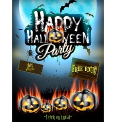 Happy Halloween party EPS 10 vector