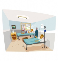 hospital room vector image