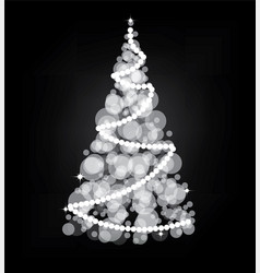 illumination lights shiny christmas tree isolated vector image