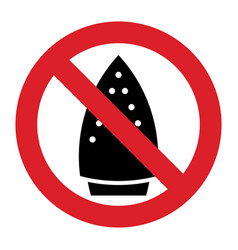 ironing is not allowed vector image