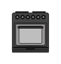 Isolated stove machine design vector