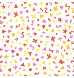 kids geometric shapes seamless pattern vector image